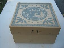 Vintage ?? SA Barker CO sixth and adams Blue White Mixed ?? Hat Empty Hat Box