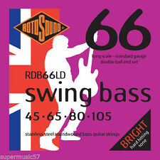 ROTOSOUND RDB66LD DOUBLE BALL END BASS STRINGS, STANDARD GAUGE 4's,  45-105