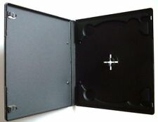 100 x 7mm Half Size Slim Single Black DVD CD Case Cases With Clear Cover Sleeve