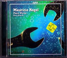 Mauricio KAGEL Piano Works Metapiece MM 51 Metapiece An Tasten PAOLO ALVARES 2CD