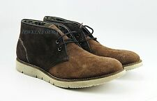 HUGO BOSS BLACK LABEL AMPLE SHOES BOOTS BROWN 100% LEATHER NEW SIZE 10, 43