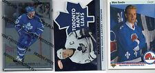 3-mats sundin toronto maple leafs card lot rc ud 365 atomic 93 01/02 steel 96/97