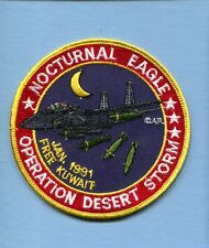MCDONNELL BOEING F-15 E STRIKE EAGLE DESERT STORM 91 USAF Fighter Squadron Patch