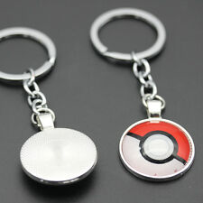 Fashion Anime Cartoon Pokemon Pokeball Pendant Dangle Key Chain Ring Keychain