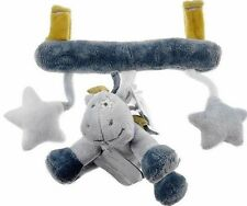 NOUKIES Pram Toy Victor & Lucien Soft Velour Baby Boy/Girl 24x28cm NWT