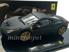 HOT WHEELS ELITE BLY47 FERRARI 458 ITALIA SPECIALE 1/43 DIECAST MATTE BLACK