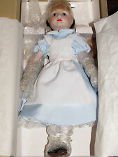 VINTAGE DISNEY COLLECTION-GROLIER ALICE IN WONDERLAND PORCELAIN DOLL-NIB!
