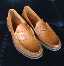 Nwob Walk Over Penny Loafers Men's Size 9 Orange  Made In Maine, USA!
