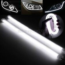 2x 30CM Flexible Car Soft Tube LED Strip Light DRL Daytime Running Lamp White