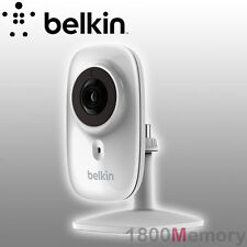 GENUINE Belkin WeMo NetCam HD+ Wi-Fi Camera with Night Vision 720p Mic IP Webcam