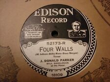 EDISON 52173 J. DONALD PARKER Four Walls/I'm Making Believe That I ELECTRIC N-