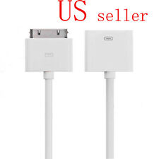 Dock Extender Adapter Extension Cable For iPhone4 4S iPod Touch Classic White