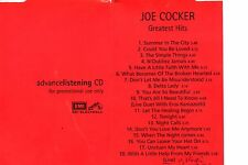 Joe COCKER Greatest Hits - Promo Sampler CD EMI Electrola ‎– CDPP 083 1998
