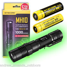 Nitecore MH10 Rechargable Flashlight w/FREE Nitecore 2300mAh & 3400mAh Batteries