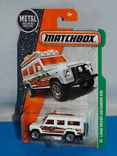Matchbox 2016 MBX Explorers Series #110 Land Rover Defender 110 White