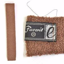 VTG 60s/70s Knitted Tie Brown Skinny Necktie Mod Scooter Cravat 1960s Square