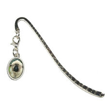 Valais Blacknose Sheep - Switzerland - Metal Bookmark with Oval Charm