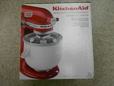 KitchenAid 2 Quart ICE CREAM MAKER, Tilt or Stand Mixer Attachment BOWL, KICA0WH