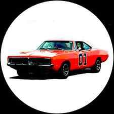 """1969 'General Lee' Dodge Charger 12"""" LP Vinyl Record Wall Clock, Pop Art Canvas"""