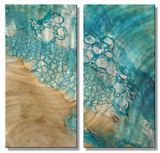 Metal Wall Art Sculpture Painting Modern Home Decor Ocean Beach Wall Hanging