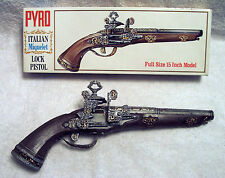 PYRO ITALIAN MIQUELET LOCK PISTOL -1960`s-ASSEMBLED PAINTED ANTIQUED W/BOX-INST.