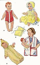 Vintage Doll Clothes Pattern 1900 for 13 inch Tiny Tears Betsy Wetsy by Ideal