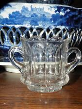 ANTIQUE HEISEY GLASS eapg PEERLESS child's sugar bowl toothpick holder signed