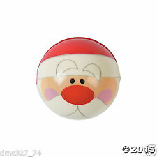 12 CHRISTMAS Winter Party Favors Stocking Stuffers SANTA CLAUS Face Stress Balls