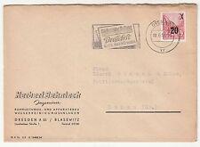 Brief 1955 Herbert Behnisch Ingenieur Apparatebau Dresden DDR schöner Stempel !