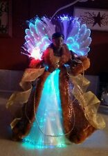 AFRICAN AMERICAN COLOR CHANGING FIBER OPTIC ANGEL CHRISTMAS TREE TOPPER TABLE