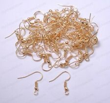 100pcs Rose Golden EARRING HOOK COIL EAR WIRE FOR JEWELRY Making Findings 18MM