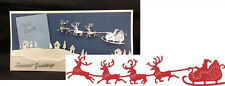 Santa's Sleigh and Reindeer Christmas B326 die Cheery Lynn Designs dies holidays