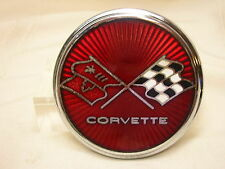 "Vintage 1975 1976 Corvette Emblem BB Co. Rochester, NY 3 1/8"" Flags Racing GM"