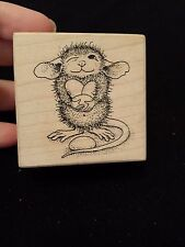 House Mouse MUDPIE HOLDS JELLYBEANS Stampa Rosa Rubber Stamp EASTER Holiday