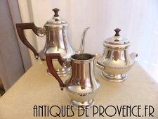 Superbe ancien Service à café Etain Français signé MALTA 3 pièces COFFEE SET