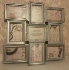 Shabby Chic Vintage Antique Look Large Silver Multi  Photo Frame 9 Picture