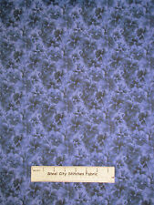 RJR Lovely Pansy Fabric ~ 100% Cotton By The Yard ~ #1450 Floral Purple Blue