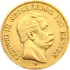 N212) j.213 Assia 10 Mark 1872 H Ludwig III 1848-1877 ORO