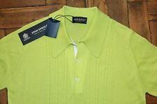 John Smedley 100% Cotton Green Asher Polo Shirt Size Small  BNWT RRP £125.00