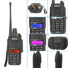 Retevis RT6 Walkie-Talkie VHF +UHF Cross band 2-Way Radio DTMF emergency alarm
