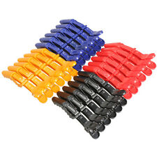 6Pcs Matte Sectioning Clips Clamps Hairdressing Salon Hair Grip Crocodile Style