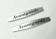 2Pcs For Auangardet Metal Vip Car Body Side Fender Silvery Sticker Badge Emblems