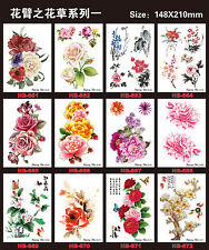12 pcs Temporary Tattoos Tattoo Stickers Waterproof Flowers Arm Fake Transfer