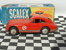 SCALEX ASTON MARTIN DB2 #9 1950'S FRICTION DRIVE TINPLATE 1:32 USED BOXED SCARCE