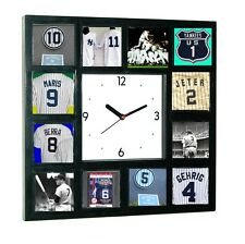 New York NY Yankees Greatest Jersey Clock 12 pictures of HOF players