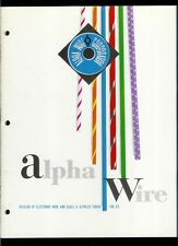 Rare Original Factory 1962 Alpha Wire Catalog Cable Alphlex Heat Shrink Tubing