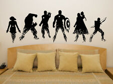 Marvel Avengers Assemble Iron Man, Hulk (All 6) Decal Wall Art Sticker Picture