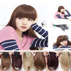 Straight front on neat bangs Clip in Bang fringe hair extensions 100% natural