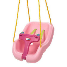 Swing Seat Pink Hanging Chair Outdoor Baby Toddler Kids Child Tree Play Fun New