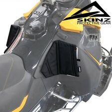 Skinz Pro-Series Black Console Knee Pads - 2013-2017 Ski-Doo Rev-XM XS Summit